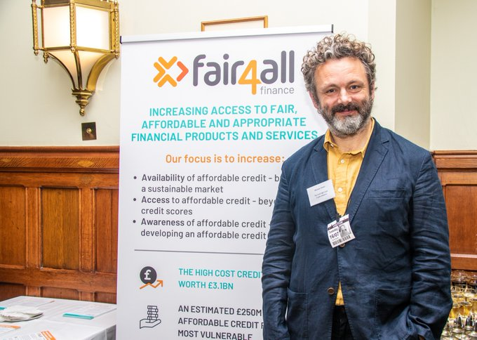 Michael Sheen attended the event to speak about financial inclusion